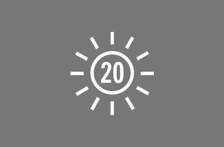 UPF 20+.
